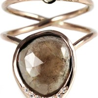 SIRCIAM - Rose Gold 'Sun & Moon' Tourmaline & Diamond Ring - SUN & MOON ROSE GOLD - H. Lorenzo