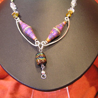 Color Changing Mood Necklace and Hand Hammered by LakeErieHarmony