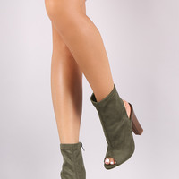 Shoe Republic LA Chunky Heeled Suede Ankle Boots