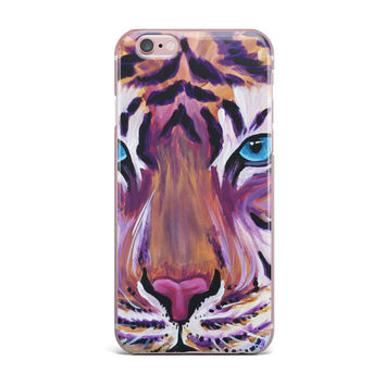 "Brienne Jepkema ""Purple Tiger"" Orange White iPhone Case"