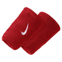 Nike Swoosh Double-Wide Wristbands (Red)