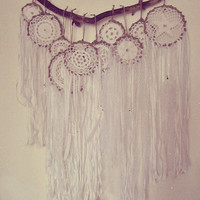 Bohemian Wall Hanging Decor - Dreamcatchers Set - Gypsy Hippie Bedroom - Boho Nursery - Laces Dream Catcher Display - Boho Wedding Decor