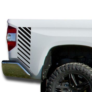 Bedside Strobe Decals Vinyl Sticker Decal: fits 2014-2018 Toyota Tundra