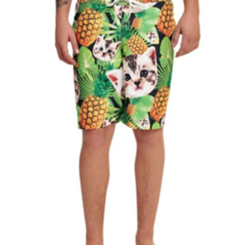 Cats & Pineapples Swim Trunks