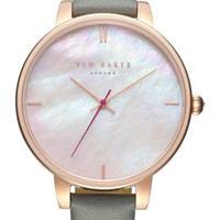 Ted Baker London Kate Leather Strap Watch, 38mm | Nordstrom