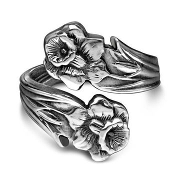 Silver Spoon Adjustable Ring - Lilly