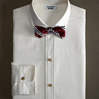 The Great Gatsby Collection Supima® Cotton Slim Fit Golf Collar Oxford Solid Dress Shirt