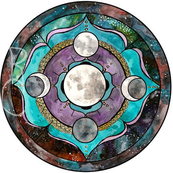 Super Moon Mandala - Spirit De La Lune Art Print - Elements - Moondala
