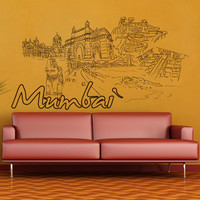 Vinyl Wall Decal Sticker Mumbai #1412