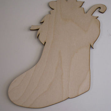 Christmas Stocking, Laser Cutouts,Unfinished Wood,Christmas Decorations,Holiday Home Decor,Wreath Decor,Christmas Ornaments,Wood Shapes