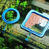 Aquarium Feeding Ring Fish Tank Station Fish Food Feed feeding Ring  Prevent Feed Floating Everywhere