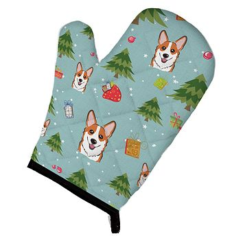 Christmas Red Corgi Oven Mitt BB5043OVMT
