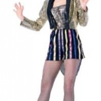 Forum The Rocky Horror Picture Show Columbia Complete Costume, Gold, XL Fits up to Size 22