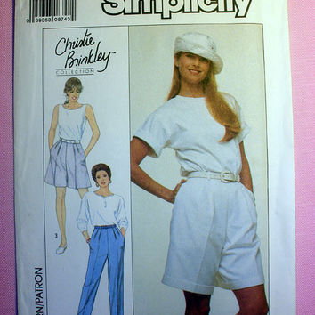 Women's Pants and Shorts Misses' Size 12, 14, 16 Simplicity 9108 Sewing Pattern Uncut