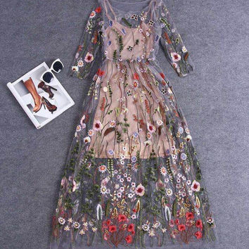 Stunning Multi Color Casual Dress 6606