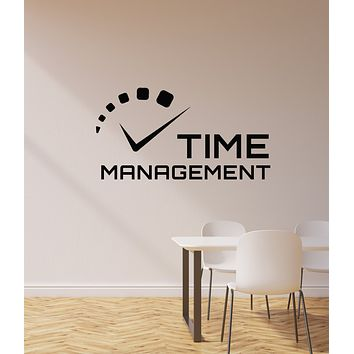Vinyl Wall Decal Time Management Office Space Business Motivation Stickers Mural (ig6118)