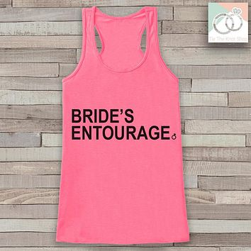 Bridesmaid Tank - Bride's Entourage Tank Top - Wedding Shirt - Pink Tank Top - Simple Top - Bachelorette Party - Bridal Party Outfit