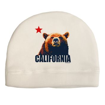California Republic Design - Grizzly Bear and Star Adult Fleece Beanie Cap  Hat by TooLoud f3740d87eebb