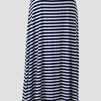 Seabrook Striped Curvy Plus Maxi Skirt