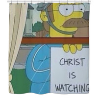 ned flanders shower curtain