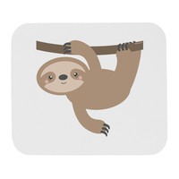 Cute Hanging Sloth Mousepad