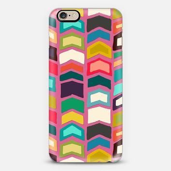 arrow pop pink iPhone 6 case by Sharon Turner | Casetify