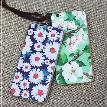 Hot ! iPhone 7 iPhone 7 plus - Stylish Cute On Sale Hot Deal Matte Couple Phone Case For iphone 6 6s 6plus 6s plus Daisies