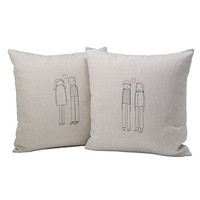 PERSONALIZED COUPLE PILLOW | Wedding Pillow, Bride, Groom | UncommonGoods