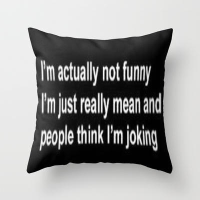 Funny Throw Pillow by LuxuryLivingNYC from Society6 | FABULOUS