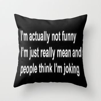 Funny Throw Pillow by LuxuryLivingNYC