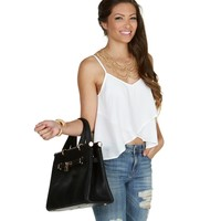 Sale- White Tulip Girl Top
