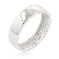 Men's Sterling Wedding Band