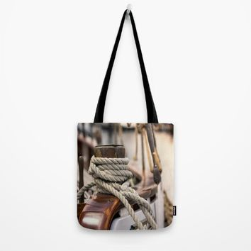linen rope from the old ship  Tote Bag by Tanja Riedel
