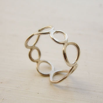 Bubble Ring in Sterling Silver