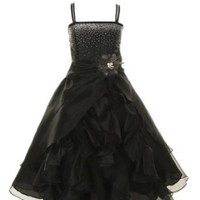 Cinderella Couture Girls Cascading Organza Dress Royal 8 (1101)