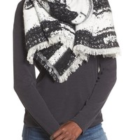Sole Society Textured Blanket Scarf | Nordstrom