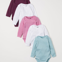 5-pack Bodysuits - Pink/turquoise - Kids   H&M US