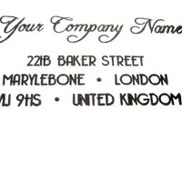CUSTOM ADDRESS STAMP - Custom Rubber Stamp - wedding gift, etsy labels, return address stamp