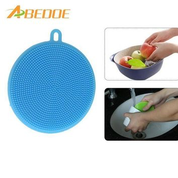 ICIKU7Q ABEDOE Silica Wash Bowl Brushes Universal Brush Hot Multipurpose Antibacterial Silicone Smart Sponge Cleaning Dish Kitchen Tool