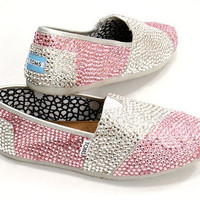 Custom Swarovski Toms Shoes.  Any Color Any Size