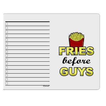 Fries Before Guys To Do Shopping List Dry Erase Board by TooLoud