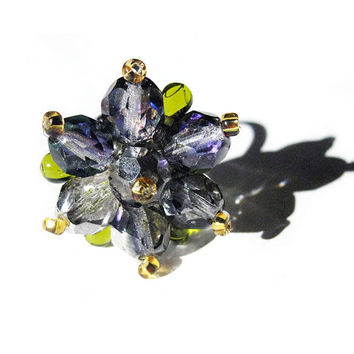 Blooming Heliothrope Ring - Spring Limited Edition - Statement ring