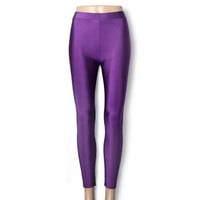 Neon Candy Shiny Bright Fluorescent Glow Stretch Leggings Pants 14 Colors