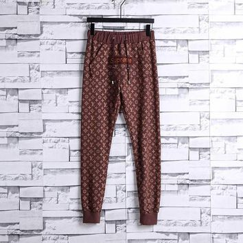 Supreme x LV Louis Vuitton Casual Print Pants Trousers Sweatpants