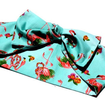 Vintage Inspired Head Scarf Bow or Bandanna Style by OhHoneyHush