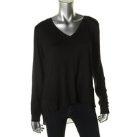 Kenneth Cole New York Womens Jo Jersey Knit Hi-Low Pullover Top
