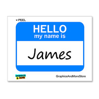 James Hello My Name Is Sticker