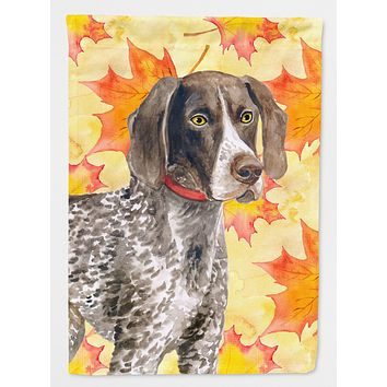 German Shorthaired Pointer Fall Flag Canvas House Size BB9902CHF