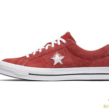Converse One Star Premium Suede Low Top + Crystals - Red