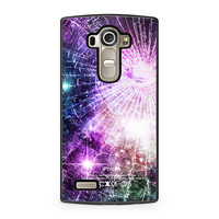 Galaxy Nebula Cracked Out Broken Glass White LG G4 case